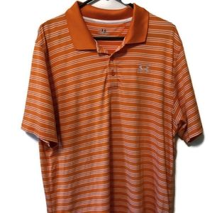 Under Armour mens orange large golf polo